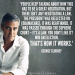 George Clooney on democracy