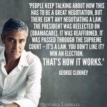 George Clooney on democracy