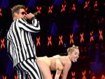 Miley Cyrus and Robin Thicke at VMA Awards