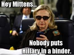 No one puts Hillery in a binder