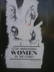 Defaced image that supports women