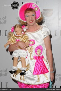 Grayson Perry dressed as a little girl