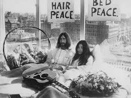 John and Yoko protesting the Vietnam War