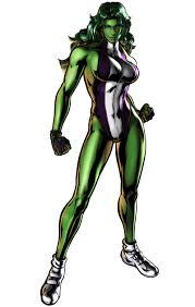 She Hulk: Strong, but pretty slim.