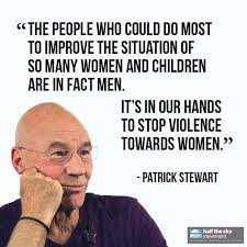 Patrick Stewart fighting violence against women