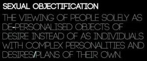 Sexual objectification, definition