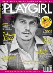 Johnny Depp in Playgirl