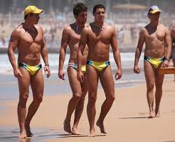 Men in Speedos. Sexy? Or gay?