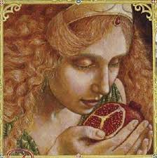Persephone eating pomegranate seeds