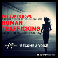 Super Bowl sex trafficking. Become a voice.