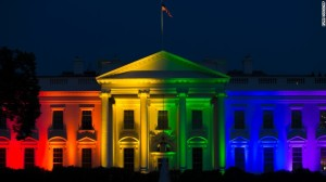 The rainbow White House