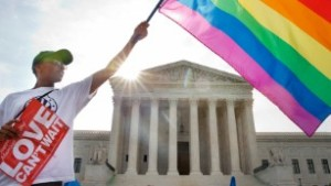 Rainbow flag over SCOTUS