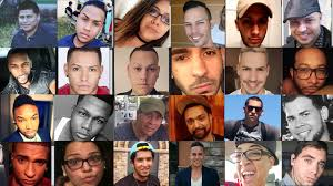 Victims of shooting at Pulse, a gay nightclub in Orlando, Florida.