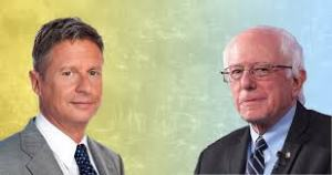 Bernie Sanders and Gary Johnson are miles apart!
