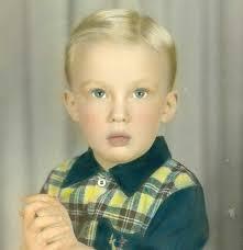 Donald Trump as a boy.