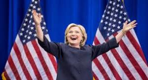 Hillary Clinton breaks Presidential glass ceiling!