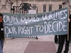 Our bodies -- our right. Unless women don't have bodies.